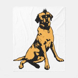 Hip, Sunglass wearing Dog Blanket