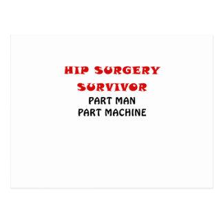 Hip Surgery Survivor Part Man Part Machine Postcard