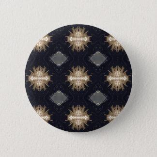 Hip Tan Gray Black Modern Pattern 6 Cm Round Badge