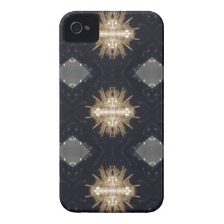Hip Tan Gray Black Modern Pattern iPhone 4 Case