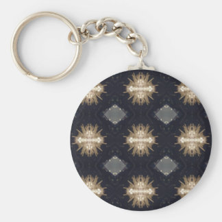 Hip Tan Gray Black Modern Pattern Key Ring