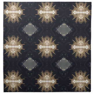 Hip Tan Gray Black Modern Pattern Napkin