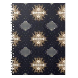 Hip Tan Gray Black Modern Pattern Spiral Notebook