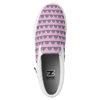 Hip tribal iconic cute spiral elephant pattern Slip-On shoes