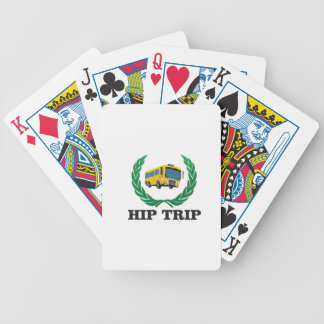 hip trip bus bicycle playing cards