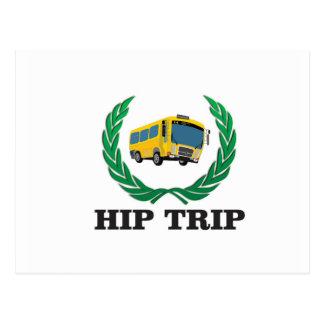 hip trip bus postcard
