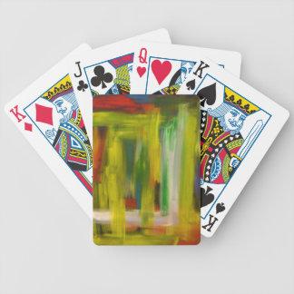 Hip Urban Rainbow Modern Geometric Abstract Bicycle Playing Cards