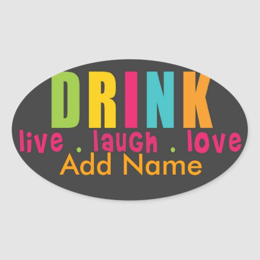 Hip Wine Label Oval Stickers