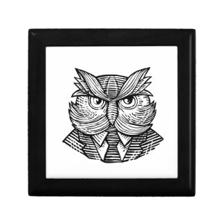 Hip Wise Owl Suit Woodcut Gift Box