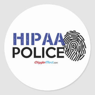 HIPAA Police Classic Round Sticker