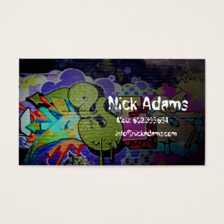 Hiphop Dancer or Graffiti Drawer Paint Color Business Card