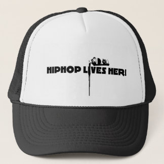 hiphop lives here trucker hat