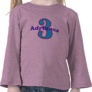 Hippe Chic Third Birthday Girl Shirt
