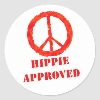 Hippie Approved Round Sticker