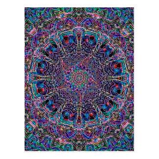 Hippie Art Psychadelic Print Postcard