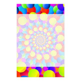 Hippie Art Rainbow Spiral Fractal Stationery