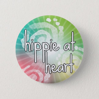Hippie at Heart 6 Cm Round Badge