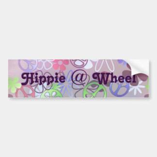 Hippie at Wheel Bumper Sticker