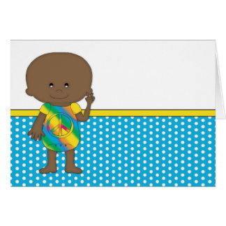 Hippie baby African American 2 Cards