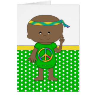 Hippie Baby African American Green Cards