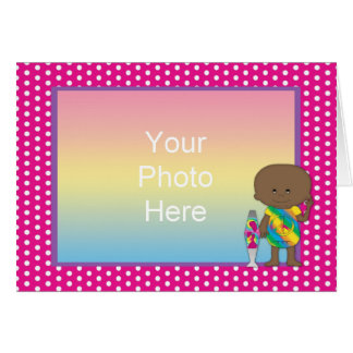 Hippie Baby African American Pink Dots Cards