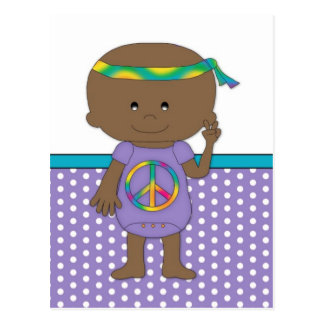 Hippie Baby African American Postcards