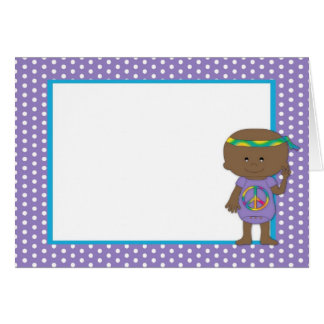 Hippie Baby African American Purple Card 2