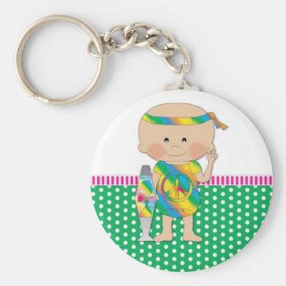 Hippie Baby Green Keychains