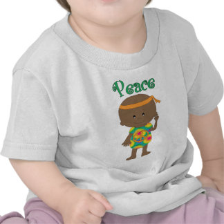 Hippie Baby Peace African American Tshirts