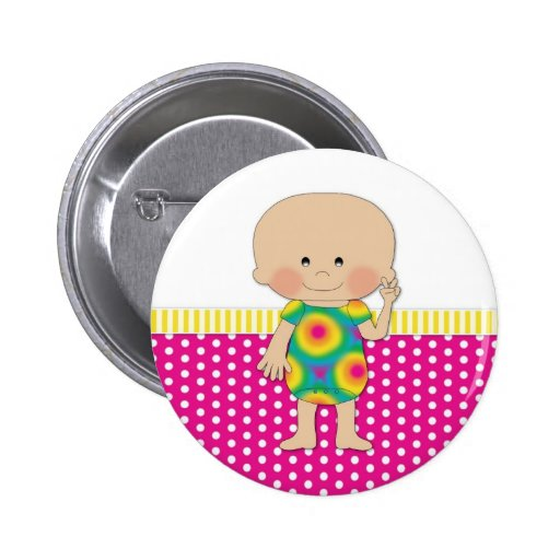 Hippie Baby Pink Pin