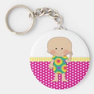 Hippie Baby Pink Keychain