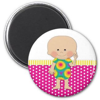 Hippie Baby Pink Fridge Magnets