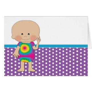Hippie Baby Purple Polka Dots Card