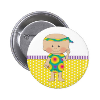 Hippie Baby Yellow Button
