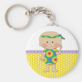 Hippie Baby Yellow Key Chains