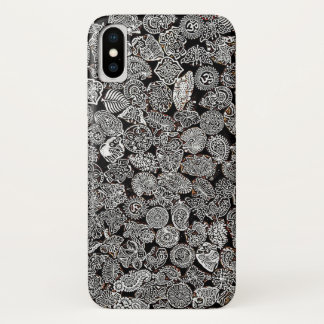 Hippie beach positive black and white phone case