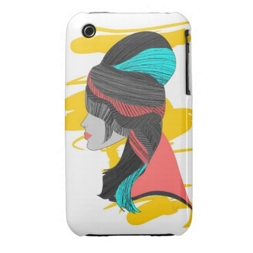 Hippie Beehive iPhone 3 Covers