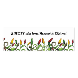 hippie doodle hot chili peppers gift tag, A SPI... Pack Of Skinny Business Cards
