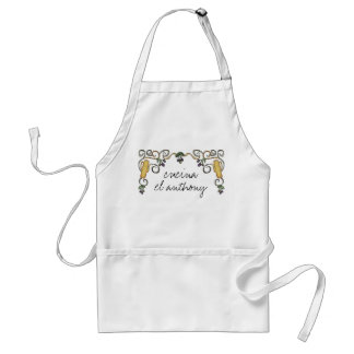 hippie doodle olive oil branch chef catering t-... adult apron