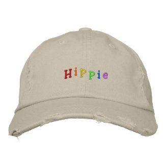 Hippie Embroidered Baseball Cap