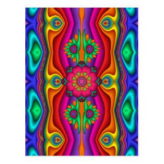 Hippie Flower Power Celebration Postcard