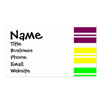 Hippie Flower Power Peace Sign on Rainbow Stripes Pack Of Standard Business Cards