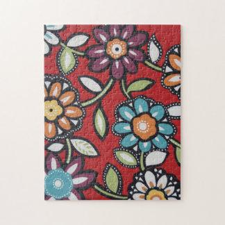 hippie flower power puzzle