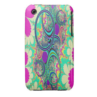 Hippie Flowers Abstract Art Case-Mate iPhone 3 Cas iPhone 3 Case-Mate Cases