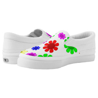 Hippie Flowers Printed Shoes