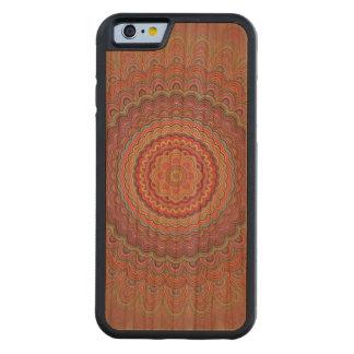 Hippie geometric mandala carved cherry iPhone 6 bumper case