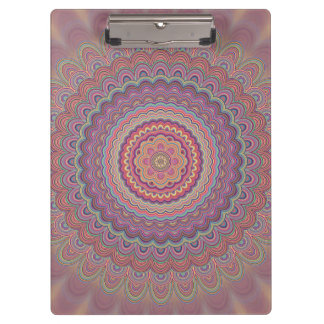 Hippie geometric mandala clipboard