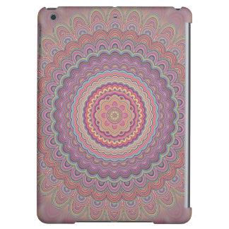 Hippie geometric mandala cover for iPad air