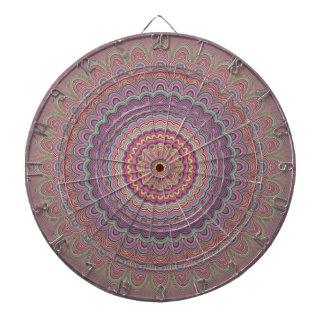 Hippie geometric mandala dartboard
