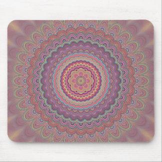 Hippie geometric mandala mouse pad